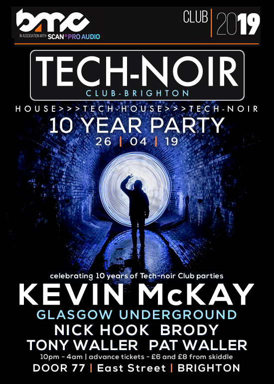 Event artwork for Tech-noir Club party in Brighton