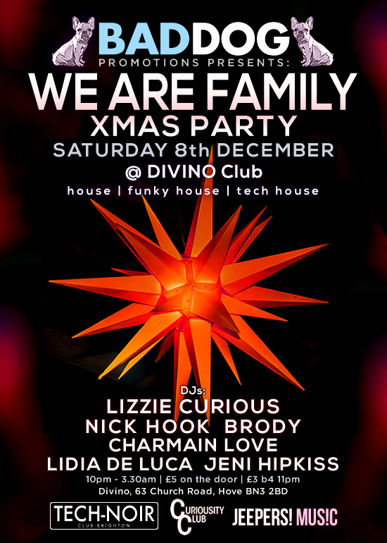 Event artwork for We Are Family Xmas Party.